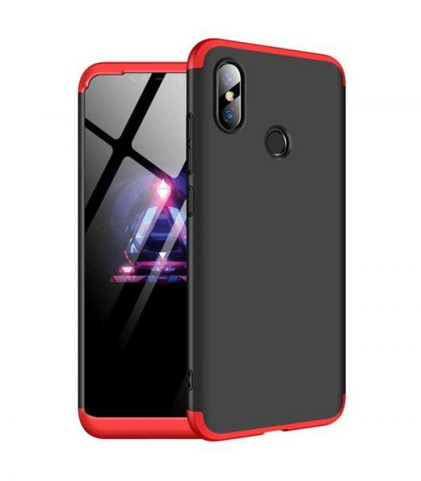 ΟΕΜ TPU Front / Back 360 Θήκη για Xiaomi Mi 8 - Μαύρο/Κόκκινο