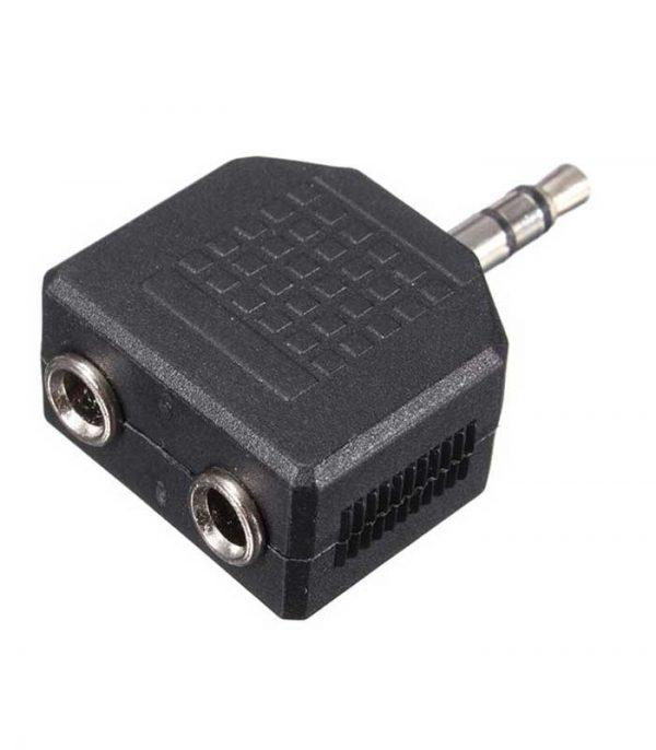 Powertech Αντάπτορας από stereo 3.5mm (M) σε 2x 3.5mm (F), nickel, (5τμχ)