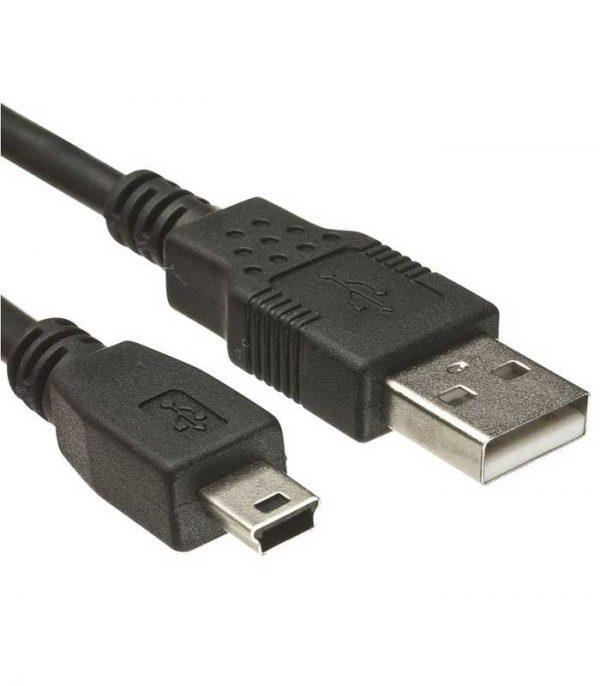 Powertech Καλώδιο USB 2.0 σε USB Mini (5m) - Μαύρο