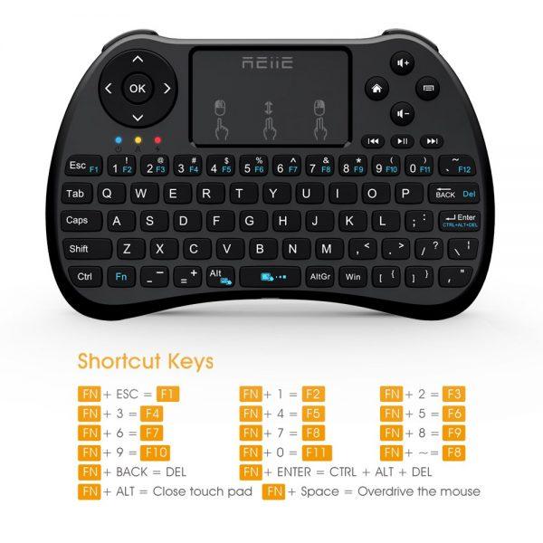 Riitek Rii H9S Ασύρματο Πληκτρολόγιο mini με Touchpad, 2.4GHz