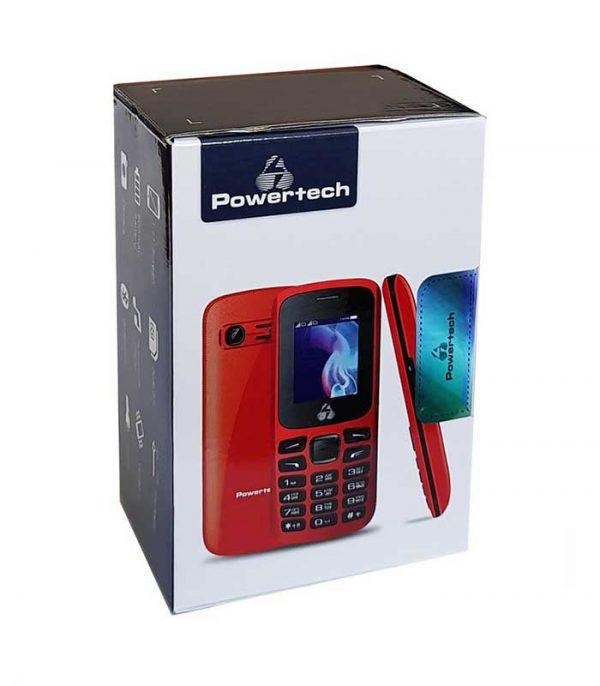 Powertech Κινητό Τηλέφωνο PTM-06, Dual Sim, Multimedia, με φακό - Κόκκινο