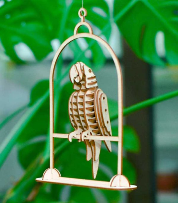 ROLIFE Ξύλινο 3D πάζλ παπαγάλος TG253, 31τμχ