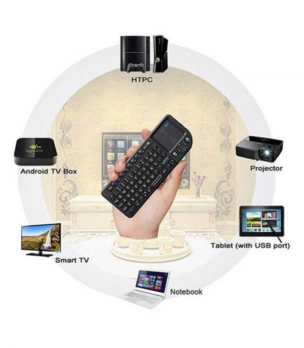 Riitek Rii mini X1 Ασύρματο Πληκτρολόγιο με Touchpad, 2.4GHz