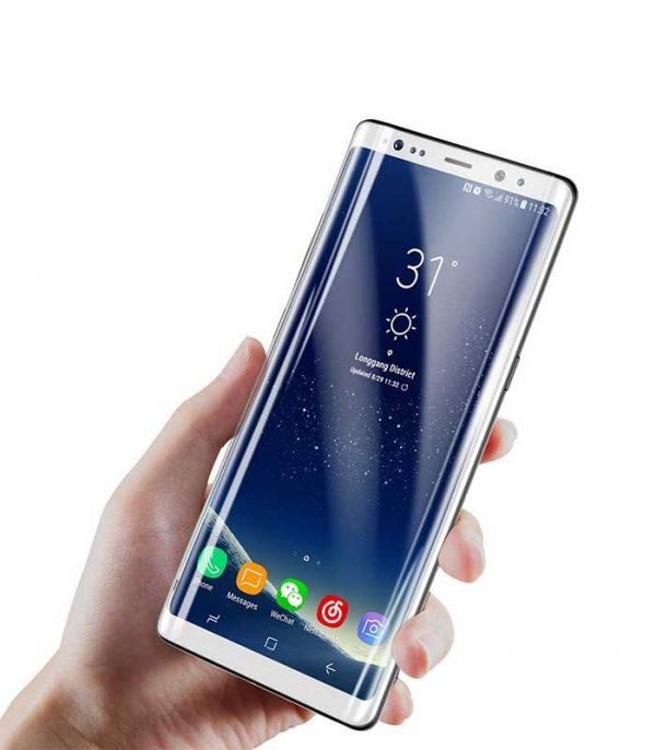 Baseus 3D Arc Tempered Glass Film Full Screen Protector with Silk-Screen Rim για Samsung Galaxy Note 8 - Λευκό
