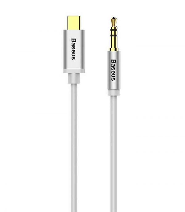 Baseus CAM01-02 Yiven audio M01 USB type C / mini-jack (1,2 m) - Λευκό