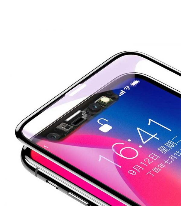 Baseus Tempered Glass with Anti Blue Light για iPhone X/XS - Μαύρο