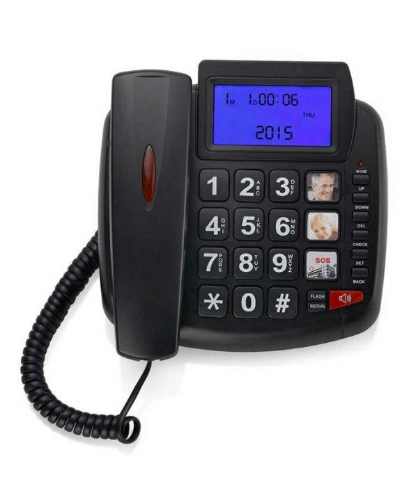 Επιτραπέζιο Τηλέφωνο TM-S003, SOS Button, Μεγάλα Κουμπιά & Οθόνη