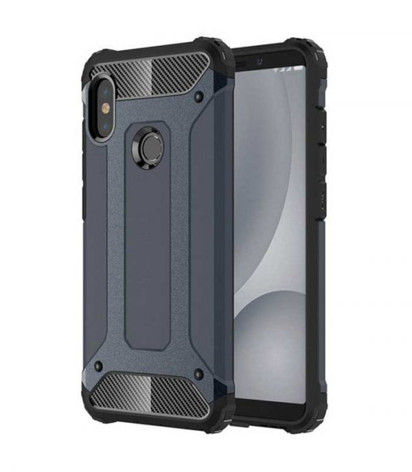 Hybrid Armor Case Tough Rugged Cover για Xiaomi Redmi Note 5 -Μπλε