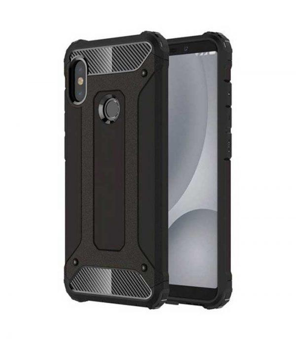 Hybrid Armor Case Tough Rugged Cover για Xiaomi Redmi Note 5 - Μαύρο
