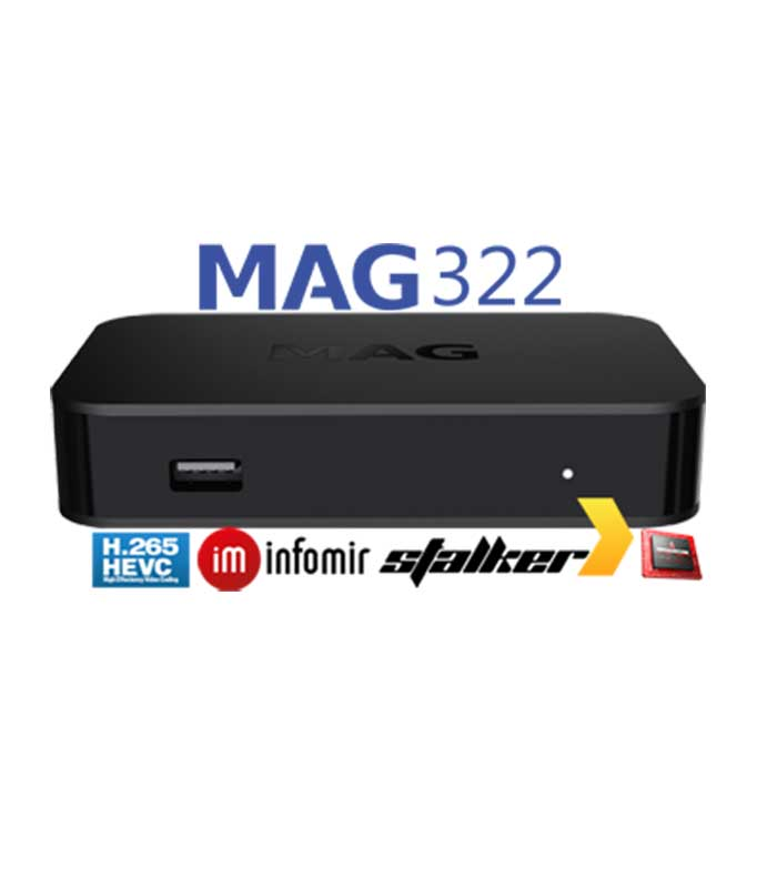 Infomir MAG322 Multimedia Player Micro IPTV Set-Top Box