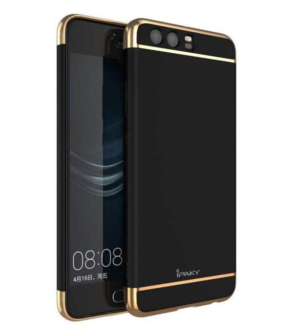 iPaky 3 in 1 Elegant Θήκη για Huawei P10 - Μαύρο