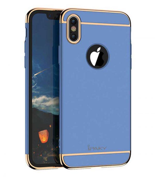 iPaky 3 in 1 Elegant Θήκη για iPhone XS / X - Μπλε