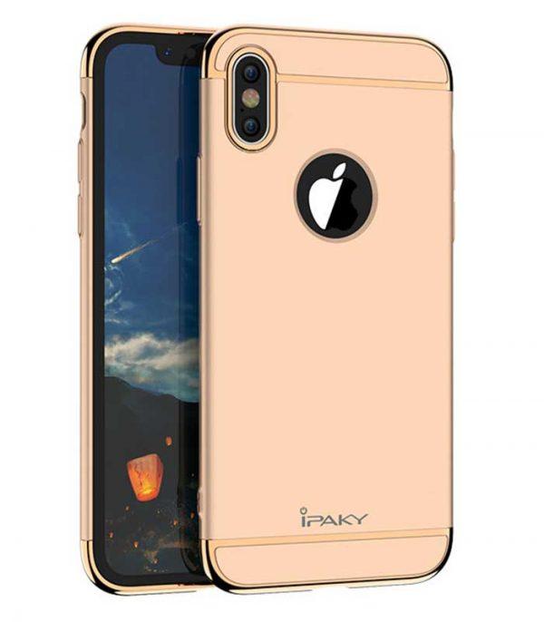 iPaky 3 in 1 Elegant Θήκη για iPhone XS / X - Χρυσό