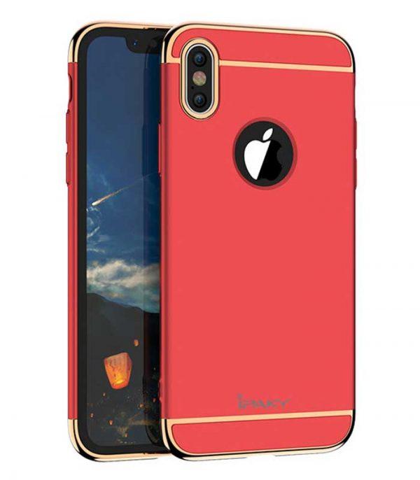 iPaky 3 in 1 Elegant Θήκη για iPhone XS / X - Κόκκινο