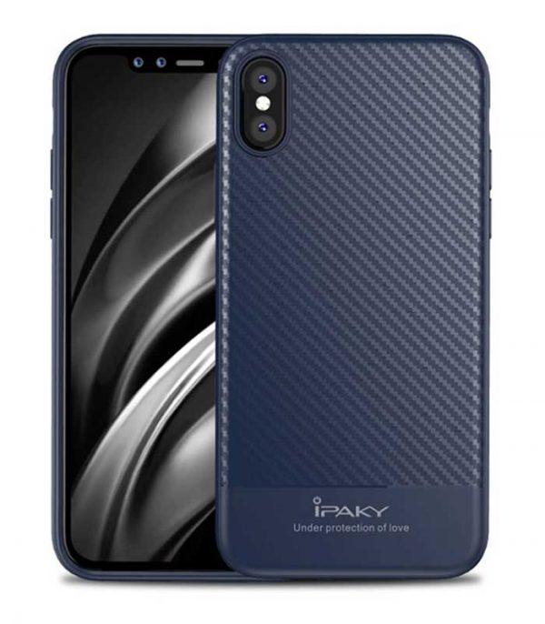iPaky Carbon Fiber Θήκη για Samsung iPhone X/XS - Μπλε