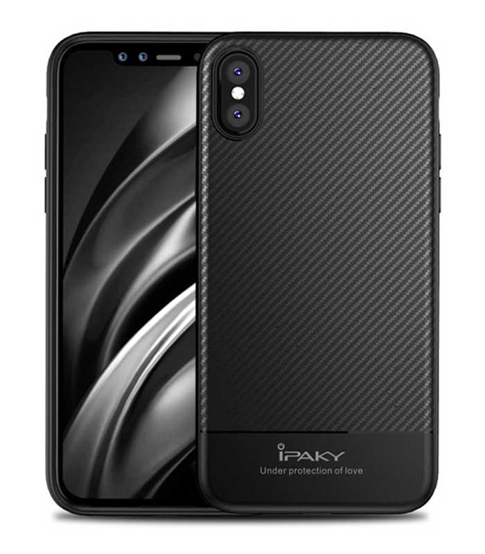 iPaky Carbon Fiber Θήκη για Samsung iPhone X/XS - Μαύρο