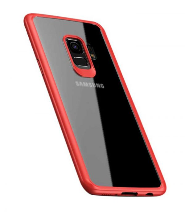 iPaky Frame with Gel Frame Θήκη για Samsung Galaxy S9 - Ροζ/Κόκκινο