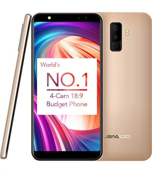 "Leagoo M9 5.5"" HD IPS, Quad Core, Quad Cam (2GB/16GB) - Χρυσό"