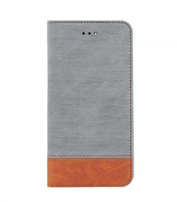 OEM Book Smart Retro Θήκη για iPhone X/XS - Γκρι