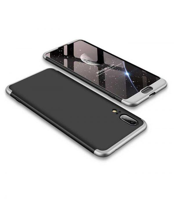 ΟΕΜ TPU Front / Back 360 Θήκη για Huawei P20 - Μαύρο/Ασημί