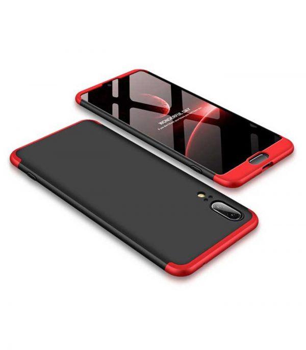 ΟΕΜ TPU Front / Back 360 Θήκη για Huawei P20 - Μαύρο/Κόκκινο