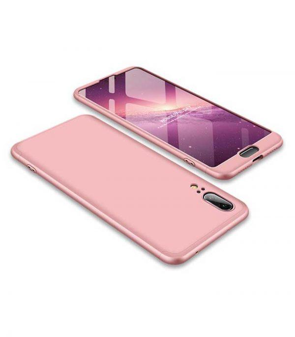 ΟΕΜ TPU Front / Back 360 Θήκη για Huawei P20 - Ροζ
