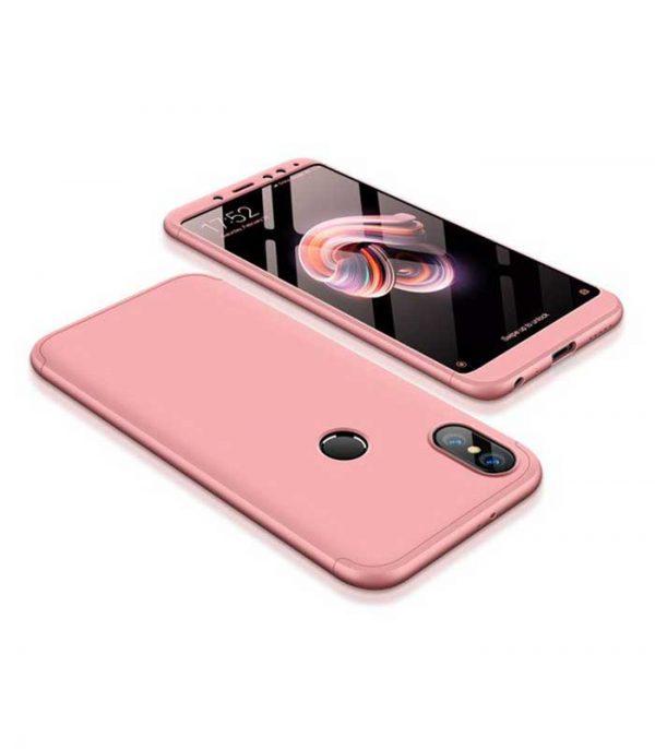 OEM TPU Front / Back 360 Θήκη για Xiaomi Redmi S2 - Ροζ