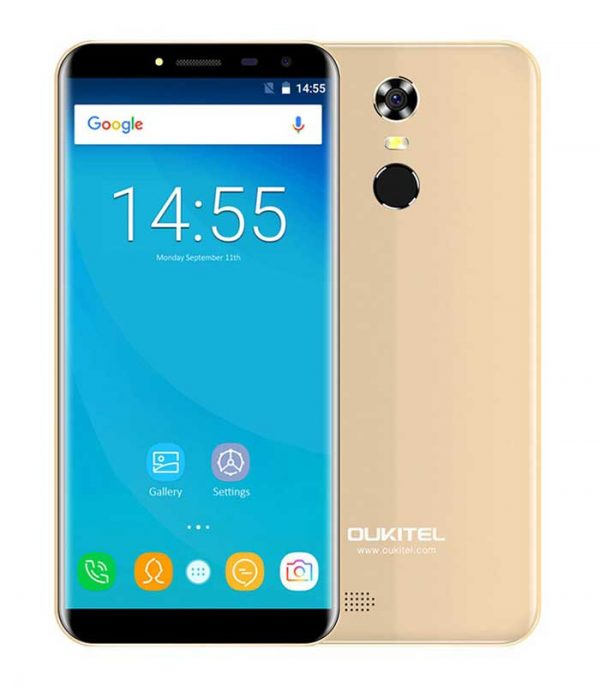 "Oukitel C8, 5.5"" HD, 2GB/16GB, Quad Core, 3000mAh - Χρυσό"