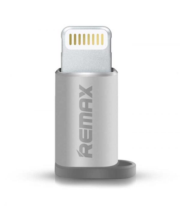 Remax RA-USB2 Αντάπτορας για iPhone Micro USB to Lightning - Ασημί