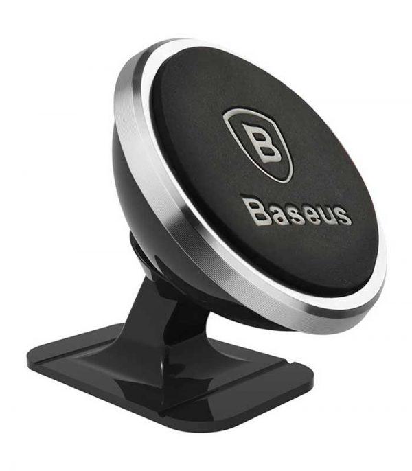 Baseus 360 Degree Rotation Μαγνητική Βάση Αυτοκινήτου - Ασημί