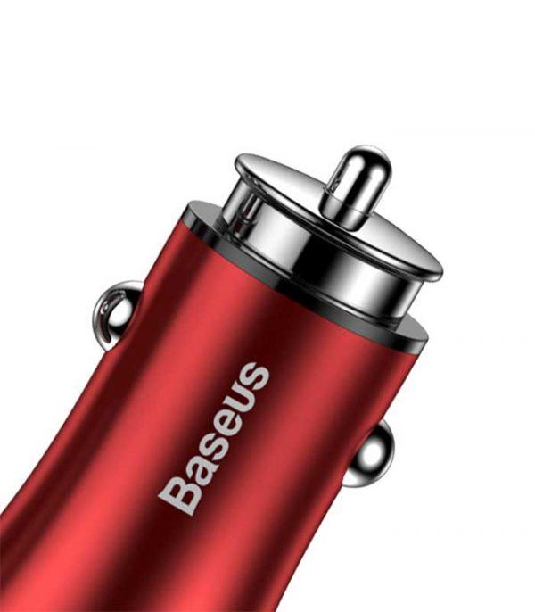 Baseus Gentleman 4.8A Dual Φορτιστής Αυτοκινήτου - Κόκκινο