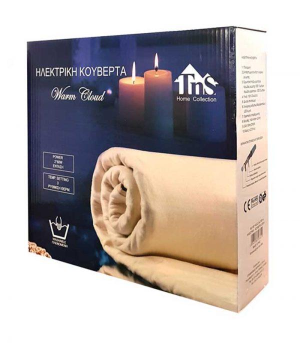 TNS Ηλεκτρική Κουβέρτα Διπλή 160x140cm, 3 Θερμοκρασίες, Πλενόμενη, 2x60W