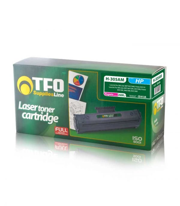 Toner TFO H-305AM (CE413A) 2.6K Συμβατό με HP Laser Jet Pro 300/400 (Κόκκινο)