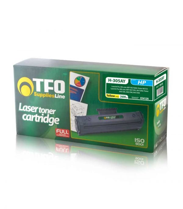 Toner TFO H-305AY (CE412A) 2.6K Συμβατό με HP Laser Jet Pro 300/400 (Κίτρινο)
