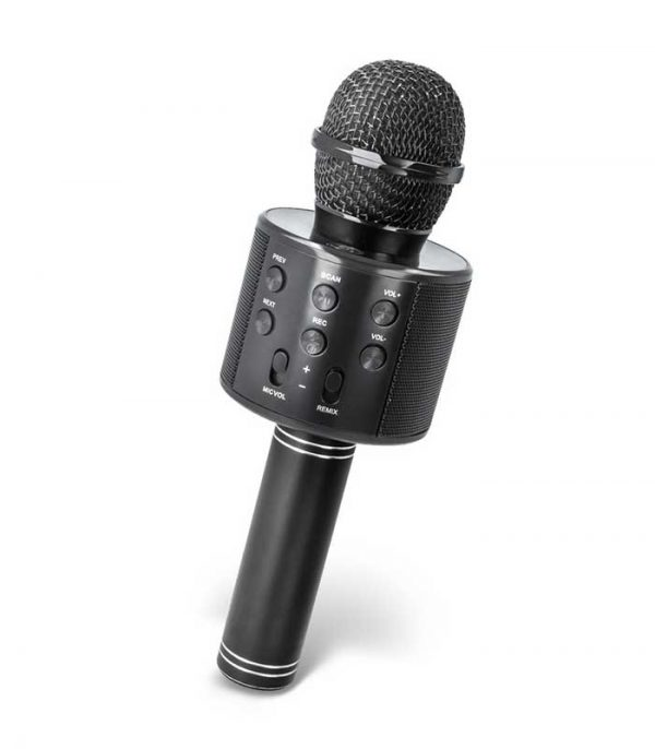 Forever BMS-300 Microphone with Bluetooth Speaker - Μαύρο