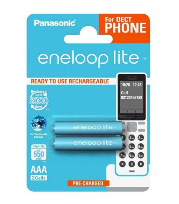 Panasonic Eneloop Lite AAA 550mAh Επαναφορτιζόμενες (2τμχ) (for DECT phone)