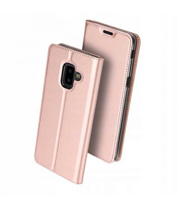 DUX DUCIS Skin Pro Bookcase type Θήκη για Samsung Galaxy J6 Plus 2018 - Ροζ