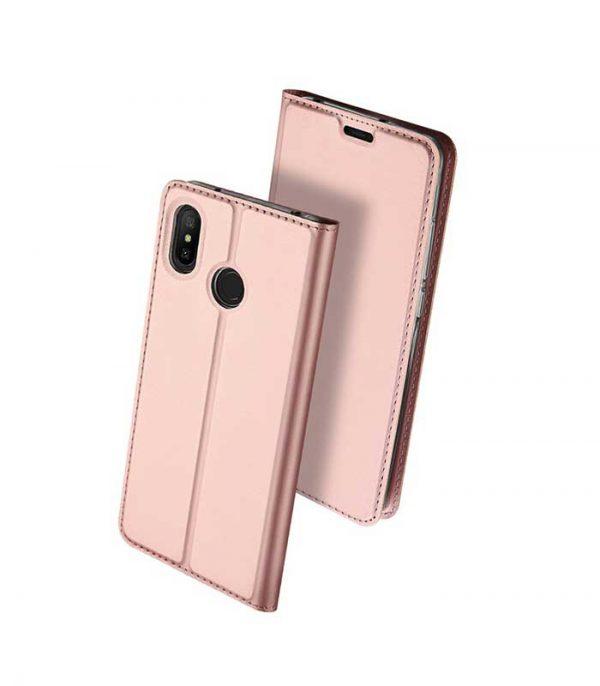 DUX DUCIS Skin Pro Bookcase type Θήκη για Xiaomi Redmi Note 6 Pro - Ροζ