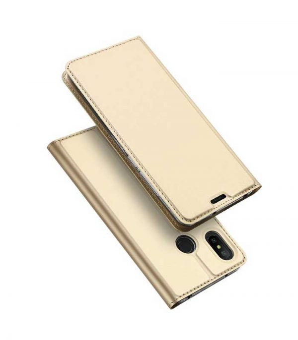 DUX DUCIS Skin Pro Bookcase type Θήκη για Xiaomi Redmi Note 6 Pro - Χρυσό