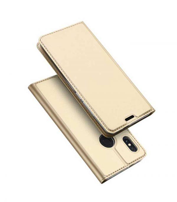 DUX DUCIS Skin Pro Bookcase type Θήκη για Xiaomi Redmi Note 5 - Χρύσο