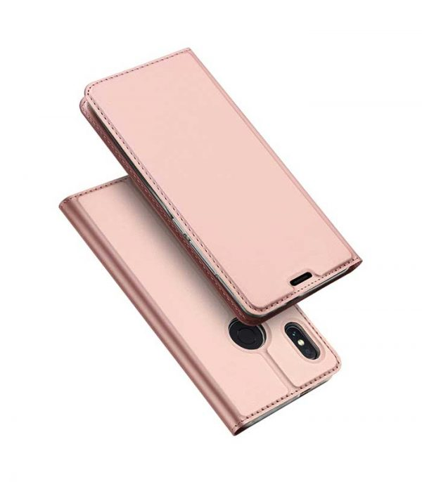 DUX DUCIS Skin Pro Bookcase type Θήκη για Xiaomi Redmi Note 5 - Ροζ