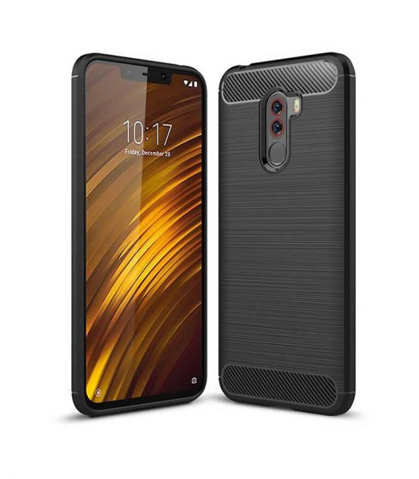 Carbon Θήκη Flexible TPU για Xiaomi Pocophone F1 - Μαύρο