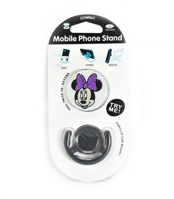 Pop Socket Mobile Stand & Holder με Βάση Αυτοκινήτου - Minnie mouse