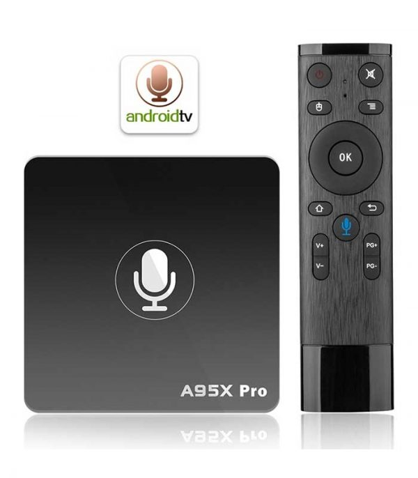 A95X Pro (S905W/2GB/16GB) Android TV Box + Voice Remote