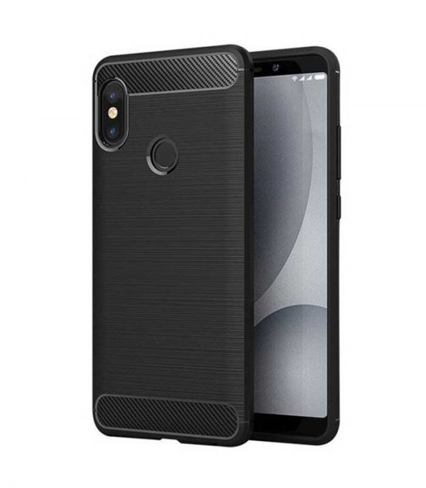 Carbon Θήκη Flexible TPU για Xiaomi Redmi Note 5 - Μαύρο