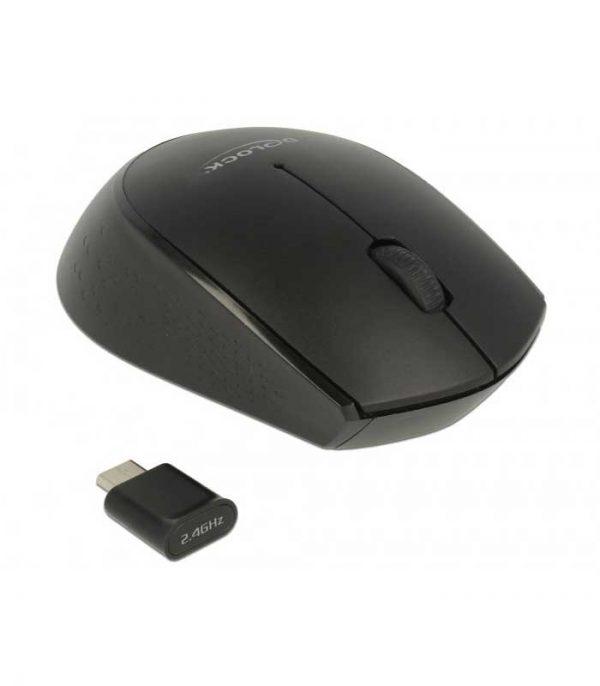 Delock mini Ασύρματο Ποντίκι (USB Type-C receiver) - Μαύρο