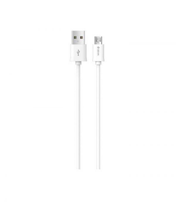 Devia USB 2.0 - micro USB (2m) - Λευκό