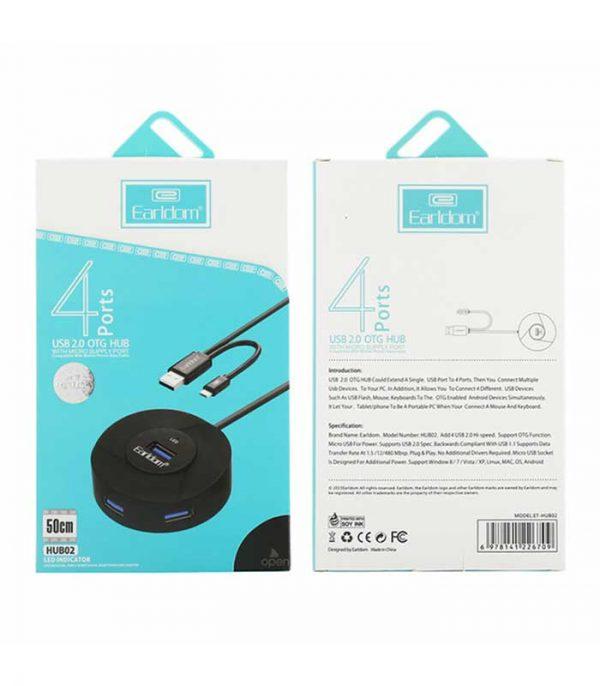 Earldom HUB02 USB hub USB 2.0, 4 θύρες, OTG