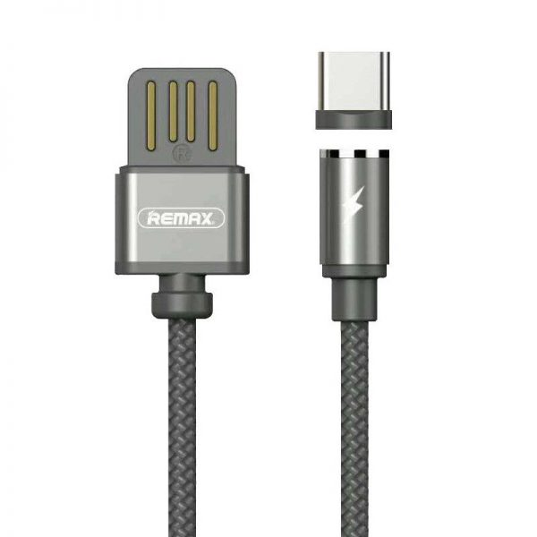 Remax RC-095a Gravity Magnetic USB 2.0 to USB type-C 1.5A (1m) - Mαύρο