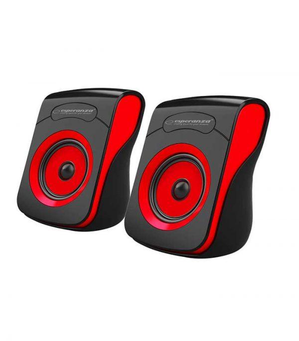 Esperanza EP140KR Flamenco USB Stereo Ηχεία 2.0 - Μαύρο/Κόκκινο